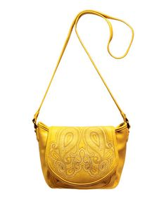 Take a look at this Yellow Bali Crossbody Bag by Jessica Simpson Collection on #zulily today!