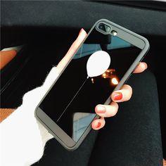 Simple Design Mirror Balloon Case for iPhone 7 6 6s 6splus 6plus Case Silicone Side Phone Case for iPhone 7 plus Case Luxury