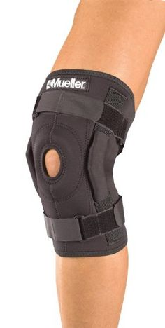 Mueller Hinged Wraparound Knee Brace, Black, Xtra Large -- Click image to review more details.