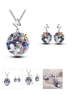 Butterfly Shaped #Jewelry Necklace/Earrings Set - Free Shipping #onlineshopping http://krat.im/6fi