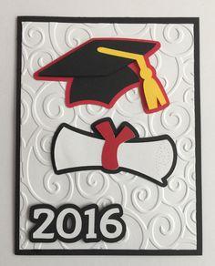 """Handmade """"Graduation Card Congrats Congratulation 2016 High School by JuliesPaperCrafts on Etsy Graduation 2016, Graduation Presents, Cards Ideas, Graduation Cards Handmade, Scrapbook Cards, Scrapbooking, Cricut Cards, Congratulations Card, Cool Cards"""