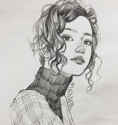 Art by @minarim - - - #art#artist#arte#artwork#doodle#figure#sketch#pencil#portrait#illustration#drawing#girl#일상#그림#연필#스케치#드로잉#인물화#습작#회화#작가#일러스트 Kawaii Drawings, Art Drawings Sketches, Pretty Art, Cute Art, Facial Expressions Drawing, Stippling Art, Cute Girl Drawing, Poses References, Human Art