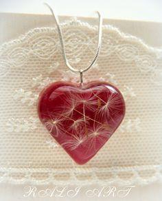 Collana del dente di Leone regalo di Natale cuore di RALIJEWELLERY