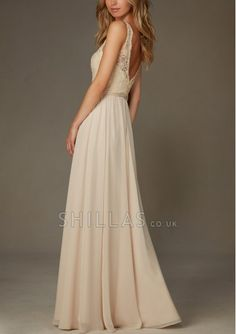 V-Neck A-line Chiffon Bridesmaid Dresses With Ruched And Lace Bodices - 1640101 - Bridesmaid Dresses