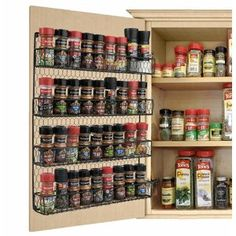 Hardware Resources Wood Cabinet Pull Out Pantry Spice Rack Organization, Kitchen Organization Pantry, Home Office Organization, Organization Hacks, Pantry Ideas, Medicine Cabinet Organization, Kitchen Pantry, Organizing Ideas, Pantry Storage