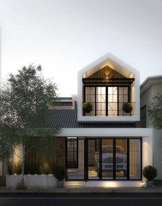 Villa Design, Facade Design, Exterior Design, Modern Minimalist House, Minimal Home, Modern Tropical House, Modern House Design, Building Design, Building A House