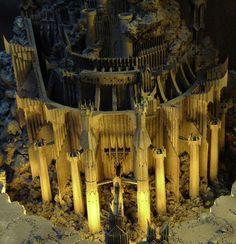 LOTR Scenery building: Hobbiton, Orthanc, etc. Fantasy Concept Art, Dark Fantasy, Fantasy Art, Fantasy Castle, Fantasy Books, Lotr Games, Barad Dur, Arte Alien, Minecraft Castle