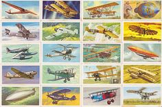 Brooke Bond Tea Cards History of Aviation by StuArtIllustration
