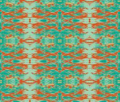 Green Eyed Tiger fabric by susaninparis on Spoonflower - custom fabric