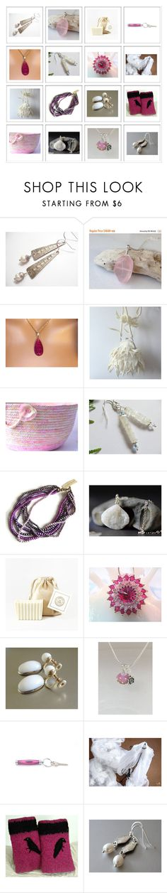 """""""Gifts for Her"""" by keepsakedesignbycmm ❤ liked on Polyvore featuring etsy, jewelry and accessories"""