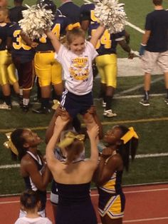 Little ladies cheerleading, great concept