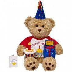 BUILD A BEAR BIRTHDAY BEAR | Build-A-Bear Workshop Happy Birthday Curly Teddy (red) by Build A Bear ...