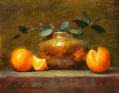 Still Life with Tangerines, painting by artist Justin Clements