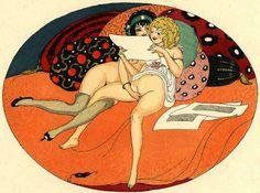 El arte también es cosa de mujeres — Gerda Wegener - Les délassements d'éros ( Douze...