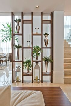 30 Genius Room Divider Design Ideas To Maximize Your Home Space - Engineering Discoveries Living Room Partition Design, Living Room Divider, Room Partition Designs, Partition Ideas, Wood Partition, Living Room Tumblr, Home Living Room, Living Room Decor, Apartment Living