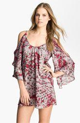 Parker Split Sleeve Silk Minidress  $253.00