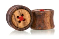 Thread Button Wood Plugs Gauges from Omerica Organic. Use Rep Code SWEETLE at checkout for 20% off your first purchase!