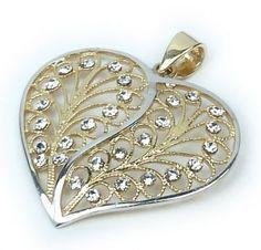 Zlatý přívěsek srdce 1626
