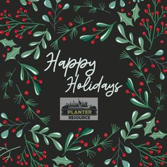 Happy Holidays from our family to yours. ☃️ Holidays In New York, Flower Market, Garden Supplies, Amazing Gardens, Accent Pieces, Decorative Accessories, Happy Holidays, Planters, Nyc