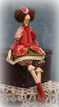 Куклы Тильды ручной работы. Заказать Марлен. Лейла Ханова. Ярмарка Мастеров. Интерьерная кукла, бархат