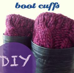 *owlswakeup: DIY Knitted Boot Cuffs