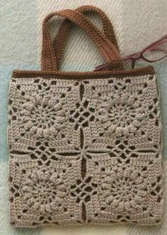 """New Cheap Bags. The location where building and construction meets style, beaded crochet is the act of using beads to decorate crocheted products. """"Crochet"""" is derived fro Bag Crochet, Crochet Diy, Crochet Handbags, Crochet Purses, Love Crochet, Crochet Motif, Crochet Stitches, Crochet Patterns, Pinterest Crochet"""