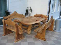 Jeff Brazier - Timber Furniture That Last Rustic Log Furniture, Timber Furniture, Unique Furniture, Garden Furniture, Diy Furniture, Furniture Design, Medieval Furniture, Interior Design Elements, Into The Woods