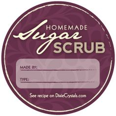 Downloadable Round Sugar Scrub Labels - Just print and customize #free