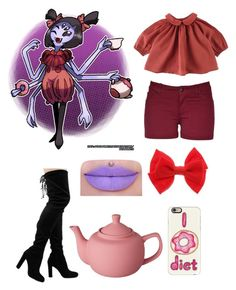 """""""Muffet undertale"""" by chilcotea201 ❤ liked on Polyvore featuring CB2 and Casetify"""