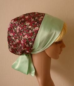 Satin Women S Head Scarf Sleeping Bonnet By Accessoriesbyrita Turban Hatnatural Curly