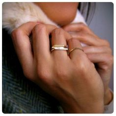 stackable rings // gorgeous. Would make perfect wedding bands and engagement rings.