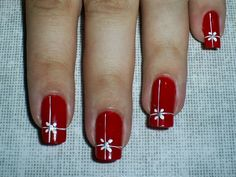 """Find and save images from the """"Moda uñas"""" collection by Melissa Atiencia  (melissa_atiencia) on We Heart It, your everyday app to get lost in what you love. Fall Nail Art Designs, Christmas Nail Designs, Toe Nail Designs, Beautiful Nail Designs, Christmas Nail Art, Holiday Nails, Red Nail Art, Red Nails, New Years Eve Nails"""