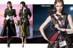 Milan, July 2016 – Prada goes all out enlisting Steven Meisel and 27 models for their interstellar Fall/Winter 2016 campaign. Set against surreal landscapes from acid sunrise to twinkling… Foto Fashion, Fashion Days, Covet Fashion, Fashion Brand, 2010s Fashion, Fashion 2016, Fei Fei Sun, Stella Tennant, Sasha Pivovarova