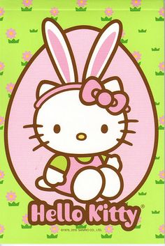 Hello Kitty bunny easter notepad - available Hello Kitty Clothes, Hello Kitty Baby, Hello Kitty Pictures, Hello Kitty Items, Sanrio Hello Kitty, Easter Wallpaper, Sanrio Wallpaper, Iphone Wallpaper, Hello Kitty Backgrounds