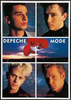 Depeche Mode 'Music For The Masses Tour' 1987 - 1988 / Poster New Wave Music, Music Love, Dance Music, My Music, Martin Gore, 1980s Bands, Alan Wilder, Mode Poster, Taylor Dayne