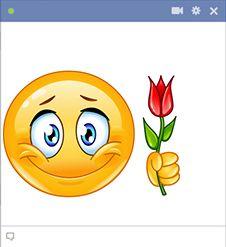 Adj valakinek szívélyes üdvözlést ezzel a merész mosollyal és szép rózsával.