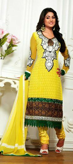 403757: #HinaKhan #SalwarKameez #Yellow #Sunshine