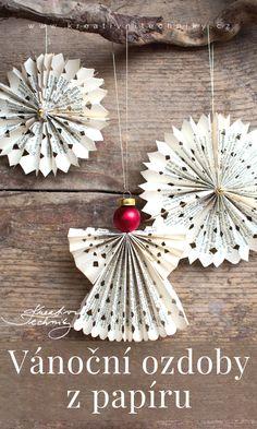 Christmas Time, Christmas Crafts, Christmas Decorations, Christmas Ornaments, Holiday Decor, Crafts For Kids, Diy Crafts, Christmas Origami, Trash To Treasure