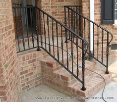 Winston Salem NC custom wrought iron railings Raleigh Wrought Iron Co.