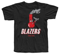 - Blazers - 100% Cotton, Tagless Black Tee - Screen Printed in the USA - Artwork by Matthew Wolff