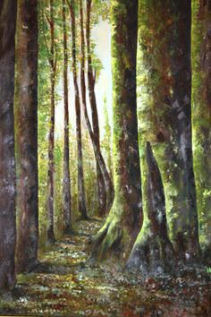 bosques de chile  oleo sobre tela