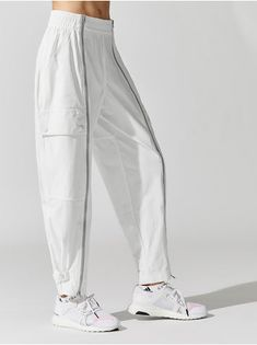 6f3eb58c1c2661 ADIDAS BY STELLA MCCARTNEY Performance Track Pants Core white TRACK PANTS  Kleidung Für Frauen