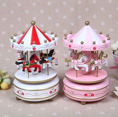 Carousel music box wooden/merry-go-round / music box/Christmas gift best Home furnishings baby girls favourite toy Free shipping