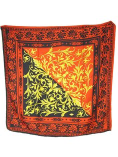 1980s Versace silk Scarf | From a collection of rare vintage scarves at https://www.1stdibs.com/fashion/accessories/scarves/