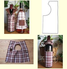 1 million+ Stunning Free Images to Use Anywhere Glass Bottle Crafts, Bottle Art, Glass Bottles, Wine Bottle Covers, Wine Craft, Wine Signs, Diy And Crafts, Felt Crafts, Sewing Projects