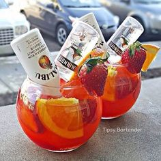 Liquor Drinks, Alcoholic Drinks, Beverages, Mini Liquor Bottles, Mix Drinks, Summer Cocktails, Cocktail Drinks, Malibu Rum Drinks, Beach Drinks