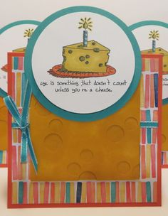 Tent Topper Birthday Card created by Lynn Gauthier using SU Giggle Greetings Stamp Set.