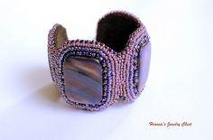 Purple Summer  Purple Bracelet Purple Beaded Bracelet by Herinia, $59.00