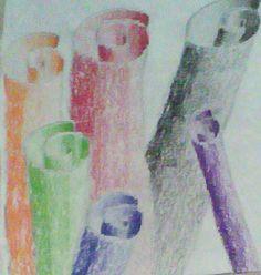 Paper Rolls Drawing