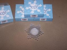 NEW IN BOX Snowflake Tea Light FREE SHIP
